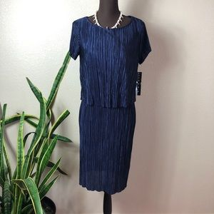 Tiana B || $90 Blue Two Tier Vintage Style Dress